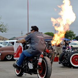 Flame Thrower Bike by Kevin Dietze - Transportation Motorcycles