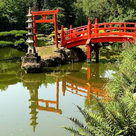 Le pont japonais de Maulevrier by Gérard CHATENET - City,  Street & Park  City Parks