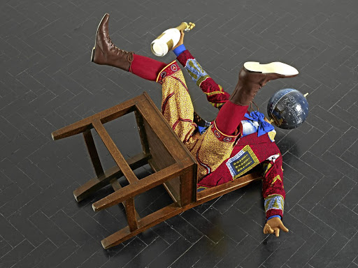 Fall head over heels: Yinka Shonibare's art has become shorthand for African contemporary and has influenced a generation of local artists. He will show this work at the Cape Town Art Fair. Picture: SUPPLIED