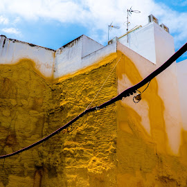 Yellow Building by Luke Albright - Buildings & Architecture Other Exteriors ( dirty, sky, city, old, pipe, building )
