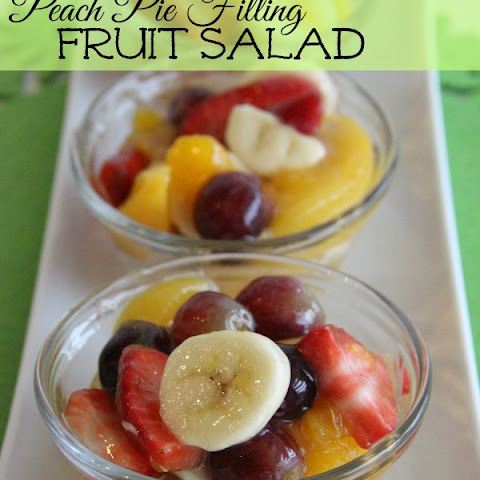 Peach Pie Filling Fruit Salad