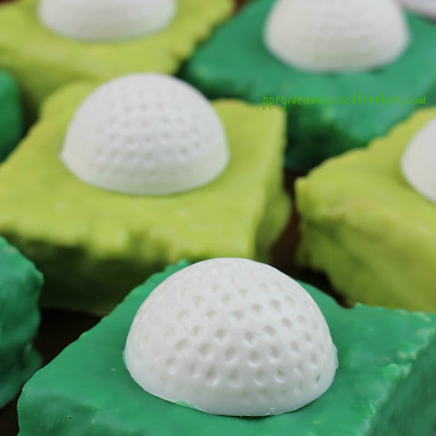 Father's Day Treat-Rice Krispie Golf Ball Bars