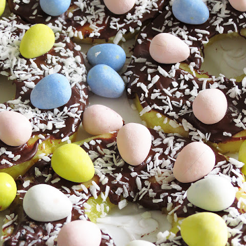 Chocolate Pineapple Coconut Easter Nests