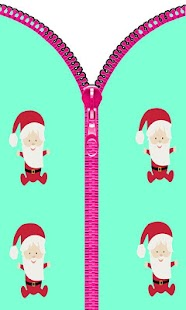 Baby Santa Zipper Lock Screen - screenshot