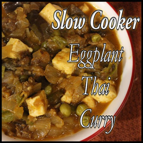 Slow Cooker Eggplant and Tofu Thai Curry
