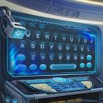 Blue alien technology keyboard Icon