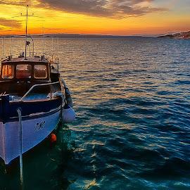 summer evening by Eseker RI - Transportation Boats