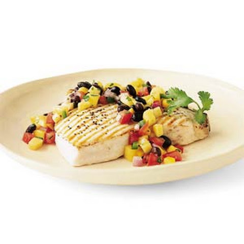Cilantro Lime Chicken Tacos With A Mango And Black Bean Salsa Recipes ...