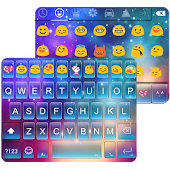 Rainbow Galaxy Emoji Keyboard