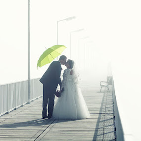 unclear future by Robert Luca - Wedding Bride & Groom