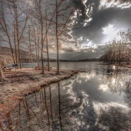 Darkening Skies by Diane Ljungquist - Landscapes Cloud Formations