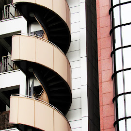 Spiral Staircase by Woodlin Smith - Buildings & Architecture Other Exteriors ( building, staircase, apartment, architecture, spiral )