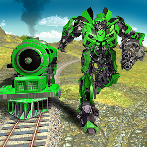 Future Subway Euro Train Transformation Robot War