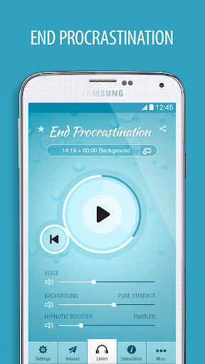 End Procrastination Hypnosis - screenshot