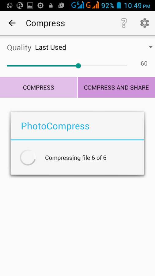 Photo Compress Pro 2.0 Screenshot 2
