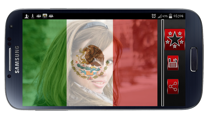 android Mexico Flag Profile Picture Screenshot 5