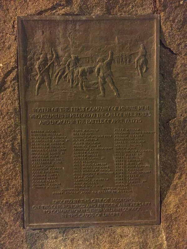 ROSTER OF THE FIRST COMPANY OF MINUTE MENWHO ASSEMBLED IN MEDFORD AT THE CALL FOR PAUL REVEREAND ENGAGED IN THE BATTLE OF APRIL 19, 1775. Submitted by @csixty4.