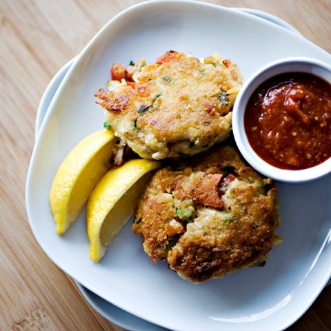 Crab Cakes and Cocktail Sauce