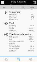 Screenshot of Weather for Sweden