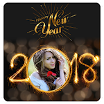 2018 New Year Photo Frames Greetings Wishes Icon