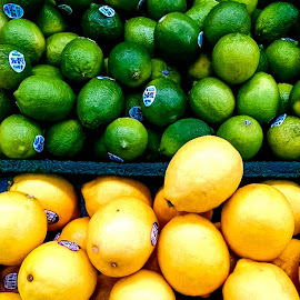 Lemons and Limes 2 by Christy Stanford - Food & Drink Fruits & Vegetables ( lemons, fruit, citrus, green, food, yellow, limes )