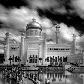 SOAS Mosque by Mohamad Sa'at Haji Mokim - Buildings & Architecture Places of Worship ( black and white, pwcbuilding )