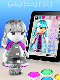 Game ColorMinis Kids - Color & Create real 3D art APK for Kindle