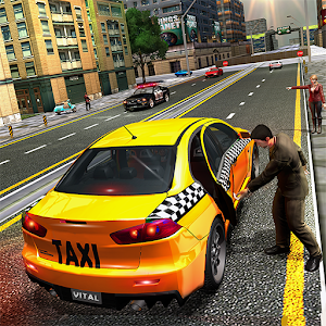 Pro TAXI Driver Crazy Car Rush Icon