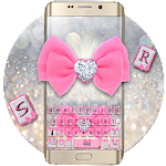 Pink Silver Luxury Bow Keyboard Theme Icon