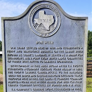 W. H. Stark settled here in 1836 and established a ferry and warehouse business on the Sabine River known as Stark's Landing. It served as a wharf for steamboats and a point from which large ...
