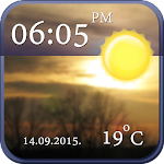 Cool Clock and Weather Widget APK Image