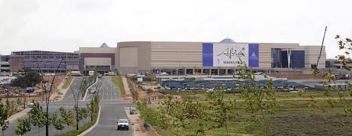Mall of Africa: Before its completion. Picture: SUPPLIED