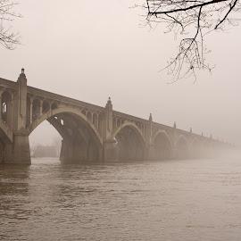 Wrightsville Bridge by Jerry Hoffman - Buildings & Architecture Bridges & Suspended Structures
