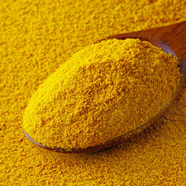 Turmeric powder by Dipali S - Food & Drink Ingredients ( raw, condiment, aroma, oriental, cuisine, aromatic, spice, ground, powder, yellow, asian, seasoning, ingredient, cooking, closeup, curcuma, orange, dry, texture, spicy, flavor, white, indian, health, curry, organic, herb, color, food, background, healthy, flavoring, turmeric )