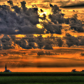Nebraska by DE Grabenstein - Landscapes Prairies, Meadows & Fields