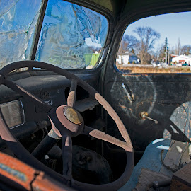 End of the Road by LINDA HALLAUER - Transportation Automobiles