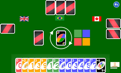Color number card game
