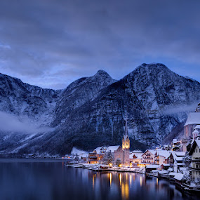 Hallstadt by Michael Strobl - Landscapes Travel ( mountains, mountain, lakes, lake, cityscape, austria )