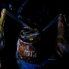 Nails by Staffan Håkansson - Digital Art Things ( foot, strings, 10kg, nails, rapsbollen )