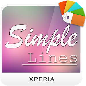 Xperia™ Theme - Simple Lines