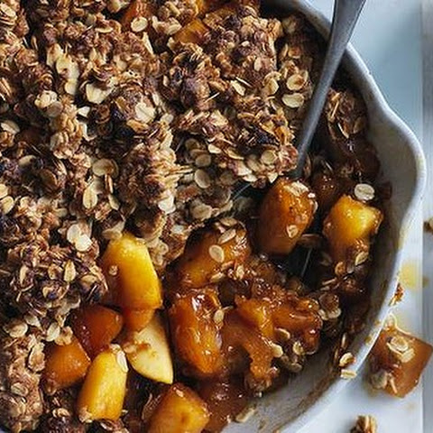 Toffee Apple Crumble With Pickled Pears And Sour Cream