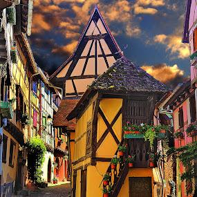 Eguisheim - La petite maison by Gérard CHATENET - Digital Art Places