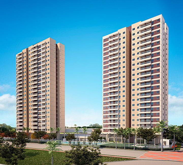 Apartamento à venda no Presidente Kennedy, vizinho ao shopping Rio Mar Norte, 63,96m2, 3 quartos, 1 suíte. Financia.