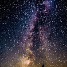 milky way by Balan Gratian - Landscapes Starscapes ( milky way colours, stars, landscape, night sky, milky way )