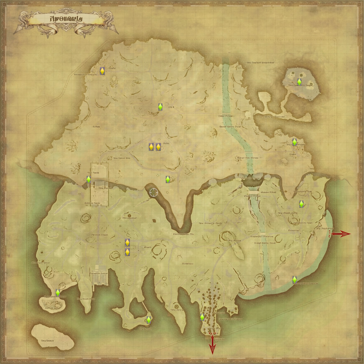 コルシア島 風脈の泉 地図