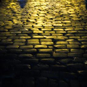 Tiptap toe by Hrijul Dey - Transportation Roads ( gold, tiles, nightscape, light painting, artistic )