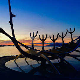 The Sun Sculpture by Neil Hannam - Buildings & Architecture Statues & Monuments ( reykjavik iceland )