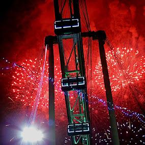 Red Firework by Hangga Pribadi - News & Events Entertainment