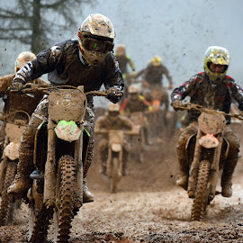 Mad Max by Marco Bertamé - Sports & Fitness Motorsports ( position, turn, slow down, rainy, fight, clump, following, followers, mud, motocross, leading, leader, weather, competition,  )