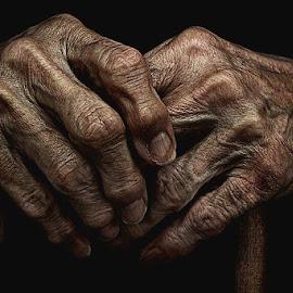 Hands of Wisdom by Kyle Conder - People Body Parts ( hands elderly drama )